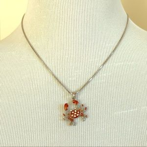 Crab 🦀 Charm Pendant Necklace